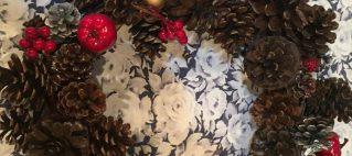 12月5日(月)、9日(金)ナチュラルリース&松ぼっくりミニツリー作り